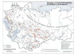 Siedlungsgebiete in UdSSR